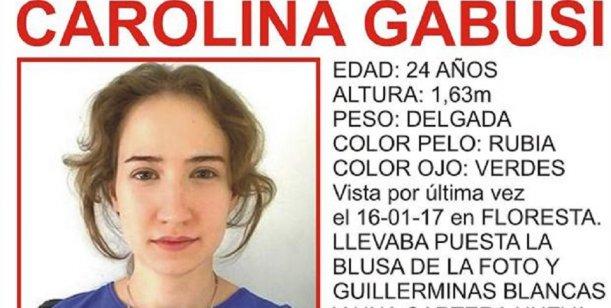 Encontraron sana y salva a Carolina Gabusi