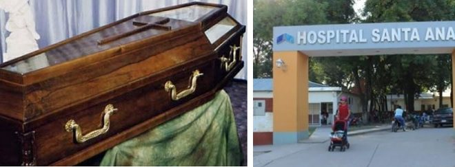 Un joven se despertó dentro del ataúd en el que era trasladado al cementerio