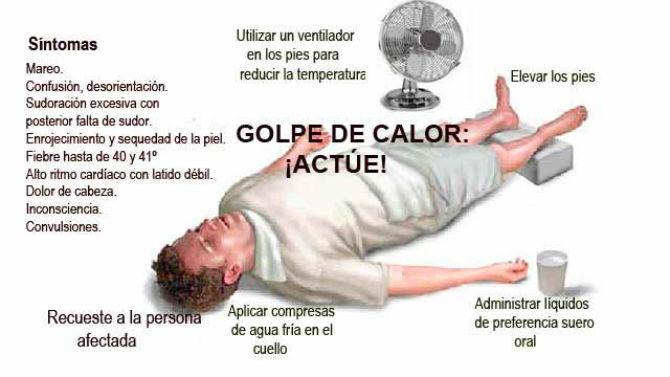 Sintomas de alarma para reconocer un golpe de calor