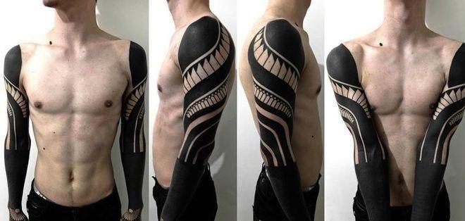 Los riesgos del tatuaje blackout