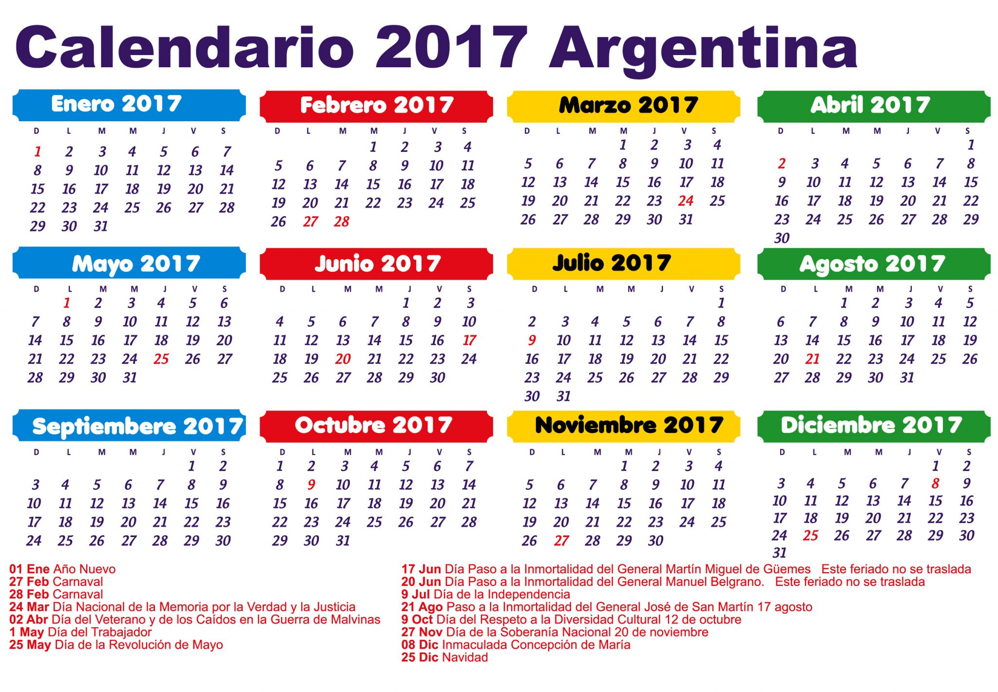 Calendario De 12 Meses 2015 11