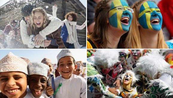Estos son los países más y menos felices del mundo
