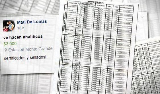 Venden titulos secundarios originales a 3 mil pesos por Facebook
