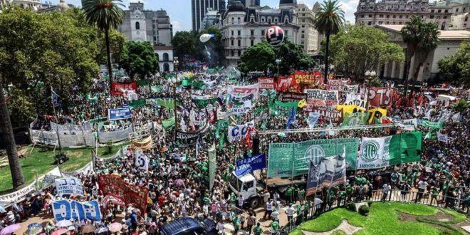Caos en Buenos Aires por la marcha de la CGT