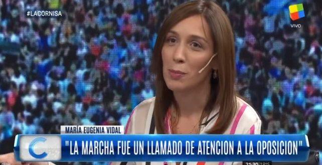 """Vidal: """"La marcha fue un llamado de atención a la oposición"""""""