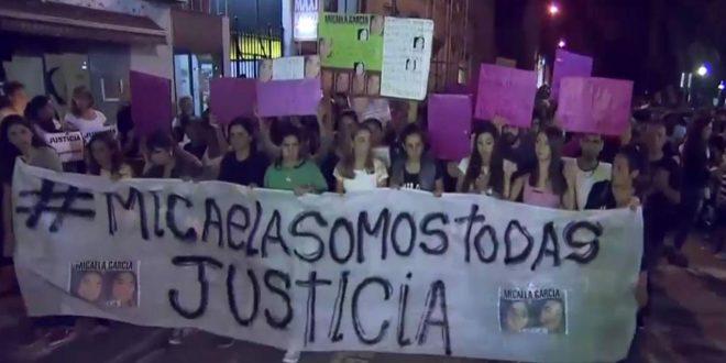 Marcha en Gualeguay por el crimen de Micaela Garcia