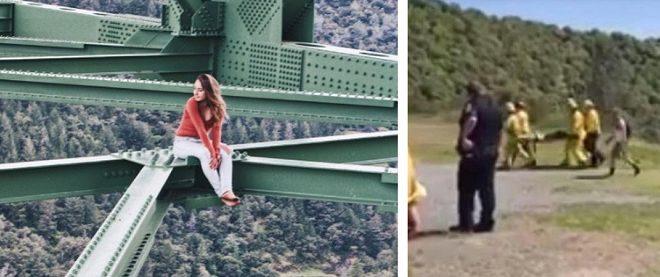 """Intentó sacarse la """"selfie perfecta"""" perocayó desde un puente"""