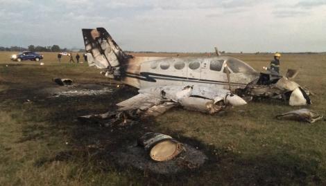 Cayó avioneta de la Policía en Canning: hay 3 sobrevivientes