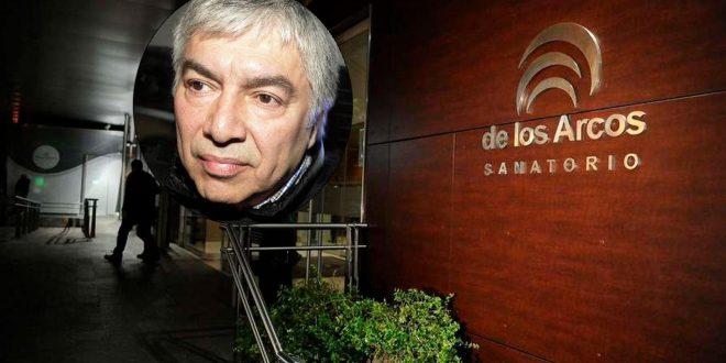 Lázaro Báez fue trasladado a una clínica porteña por una arritmia