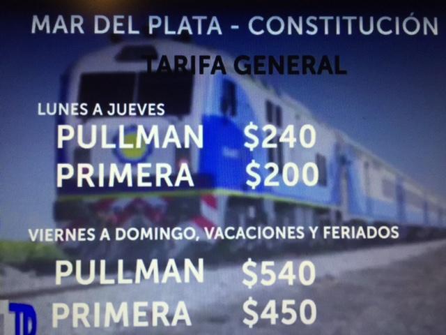 Precios Del Tren A Mar Del Plata Horarios Y Descuentos A