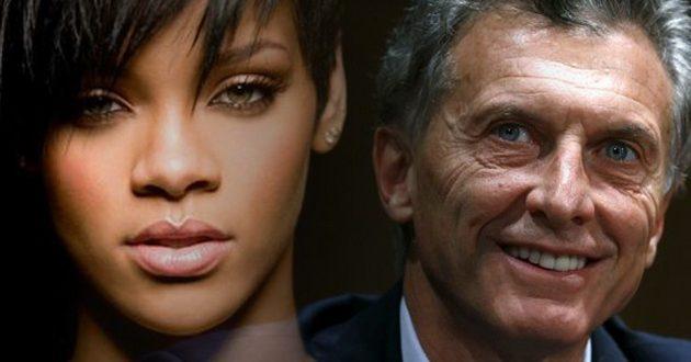 Macri le contestó a Rihanna