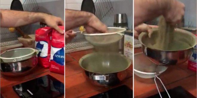 El video sobre el real contenido de la yerba mate. La estafa del peso de la yerba