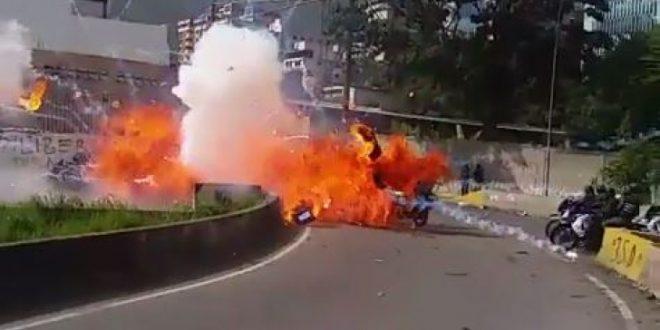 Atentado explosivo contra Guardia Nacional Bolivariana en Caracas
