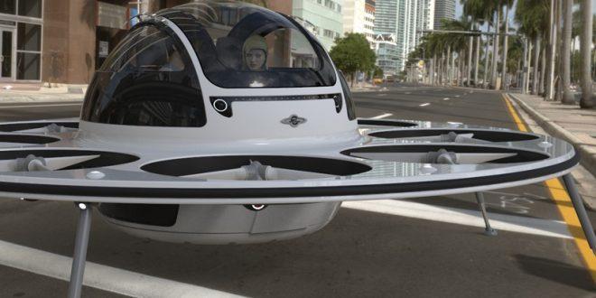 Un drone con que puede transportar hasta dos personas