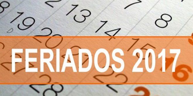 El calendario de feriados 2017 para lo que resta del año