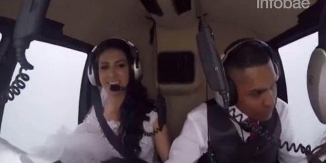 Video: Novios contrataron un helicoptero para llegar a su boda pero cayo antes de llegar y murieron