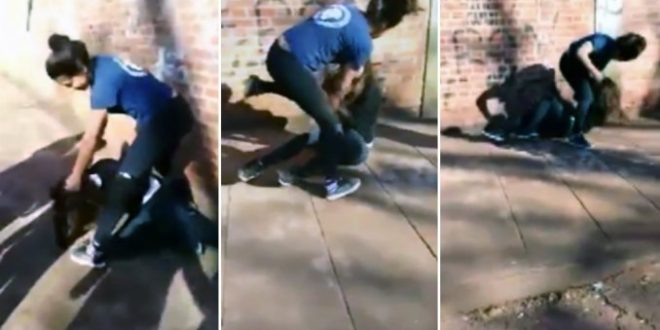 Video: Brutal pelea entre alumnas a la salida del colegio