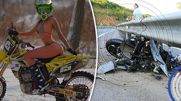 "Murio Olga Pronina, la ""Reina de las motocicletas"" en un terrible accidente"
