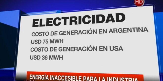 Energía inaccesible para la industria nacional dificulta la competitividad