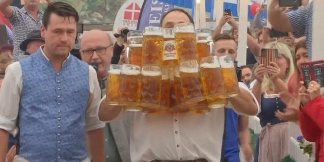 Video: Sirve 29 litros de cerveza de en una