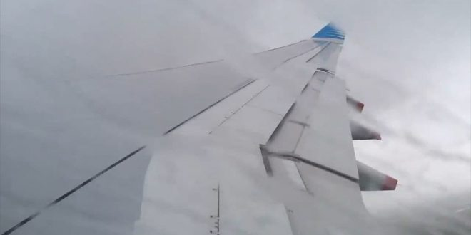 Video: A330 de Aerolineas Argentinas desafiando al Huracán Irma!