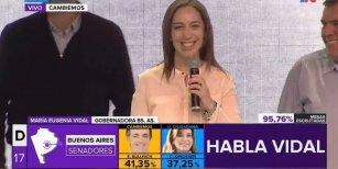 María Eugenia Vidal: Seguimos haciendo historia en la provincia de Buenos Aires