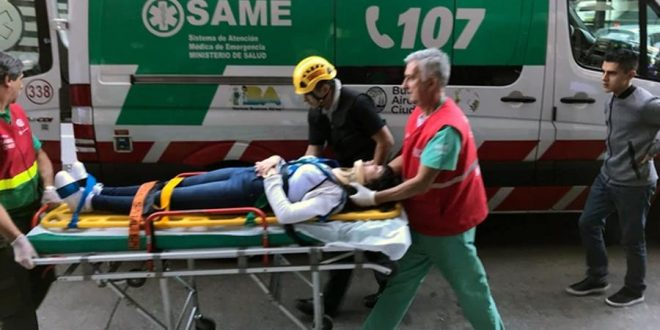 Se cayó un ascensor en Monserrat, 7 heridos