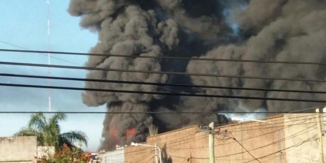 Se incendió fábrica en San Justo