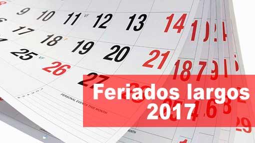 Cuántos feriados largos le quedan al 2017 en Argentina