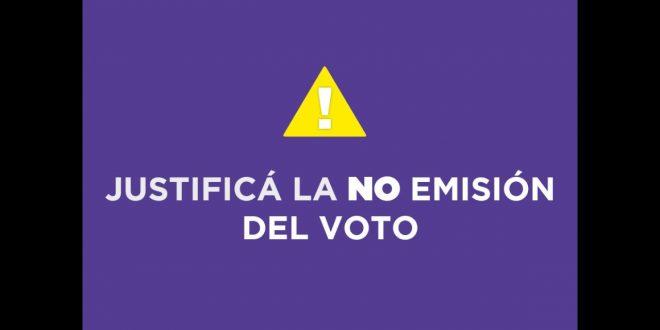 Como justificar la no emisión de voto a través de Internet