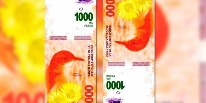 Nuevo billete de 1.000 pesos