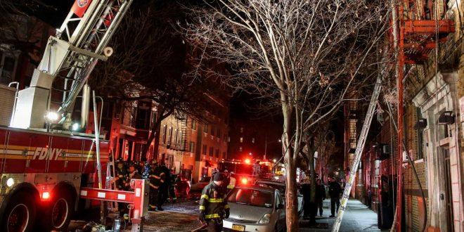 12 muertos y cuatro heridos en incendio en Nueva York
