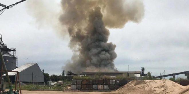 Violenta explosión en planta cerealera en Santa Fe