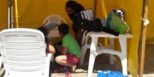 El viento tiró el parante de una carpa y le fracturó la cabeza a un nene en San Clemente