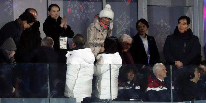Histórico encuentro entre presidente de Corea del Sur y hermana de Kim Jong-un