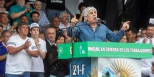 Hugo Moyano después de la marcha: Si no hay respuesta, tarde o temprano la gente se cansa