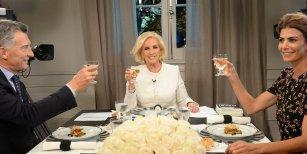 Mirtha Legrand almorzó con Mauricio Macri y Juliana Awada