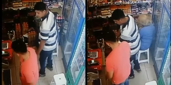 Video: Impactante robo a un drugstore