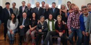 Entregan de un premio por Derechos Humanos en la Legislatura a Pablo Echarri, Amado Boudou, Carlos Zannini y Víctor Hugo Morales