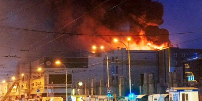 Incendio en un shopping dejó más de 60 muertos en Rusia
