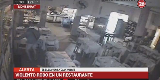 Monserrat: violento robo en restaurante