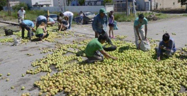 Productores protestarán en Río Negro arrojando peras y manzanas