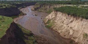 Aparece un río en Argentina de la noche a la mañana