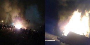 El Pity Álvarez no salió con Viejas Locas y los fans le prendieron fuego el escenario y le tiraron piedras
