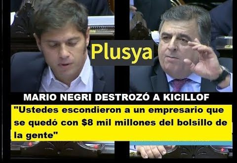 Video: Mario Negri destrozó a Kicillof por Cristóbal López