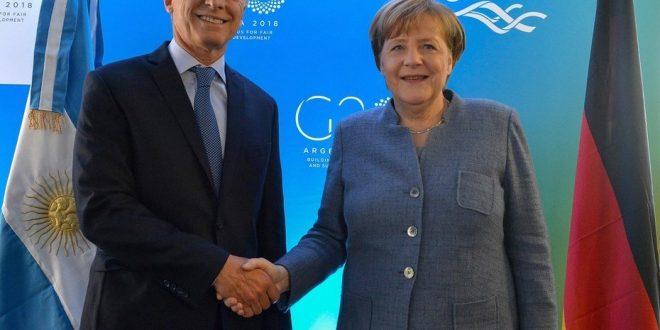 El gobierno de Angela Merkel también envió un fuerte mensaje de apoyo a Mauricio Macri