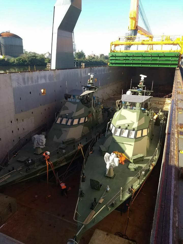 Arribaron a nuestro país las primeras dos lanchas rápidas adquiridas para la Prefectura Naval Argentina