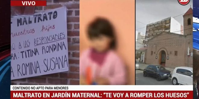 Brutal amenaza a niños de un jardín maternal