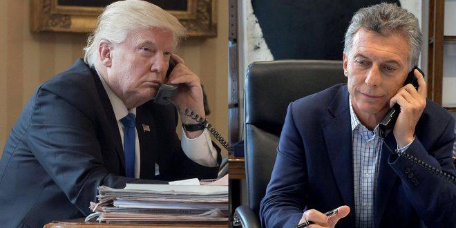 Macri llamó a Trump y consiguió el respaldo de los Estados Unidos por las gestiones ante el FMI