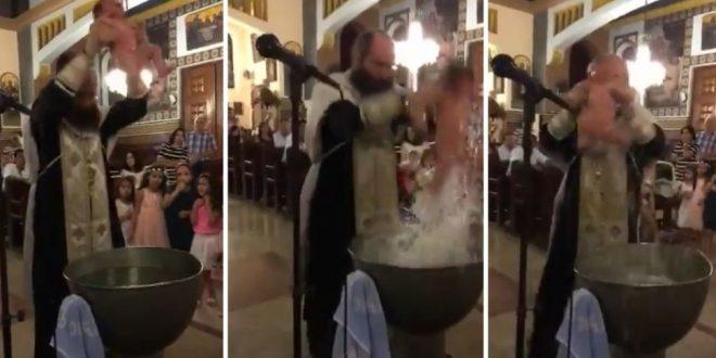 Video: Indignación por un bautismo salvaje y violento